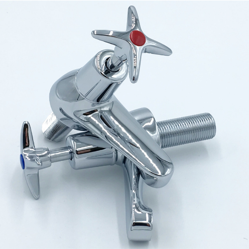 Deva Cross Handle Basin Taps In Chrome (BS5412)