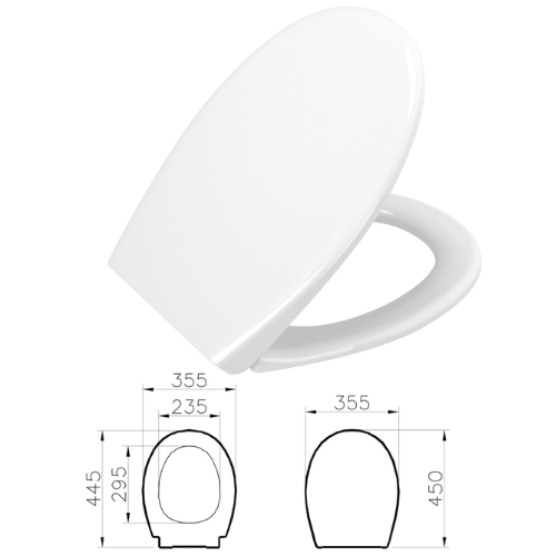 Vitra Soft Closing WC Seat In White - Model Number -84-003-019